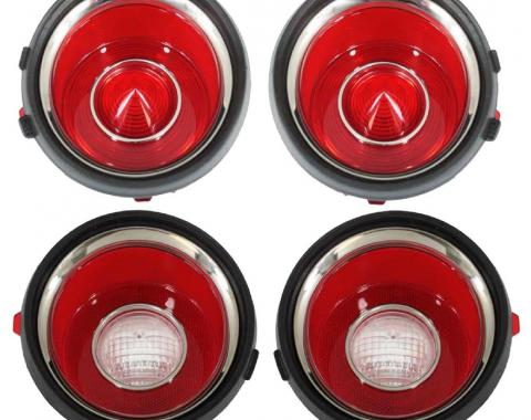 Trim Parts 71 Late-73 Camaro Tail Light Lens Set with RS A6709S