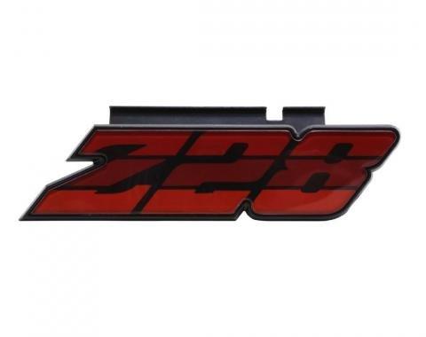 Trim Parts 80-81 Camaro Grille Emblem, Z-28, Red, Each 6885