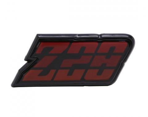 Trim Parts 80-81 Camaro Fuel Door Emblem, Z-28, Red, Each 6955