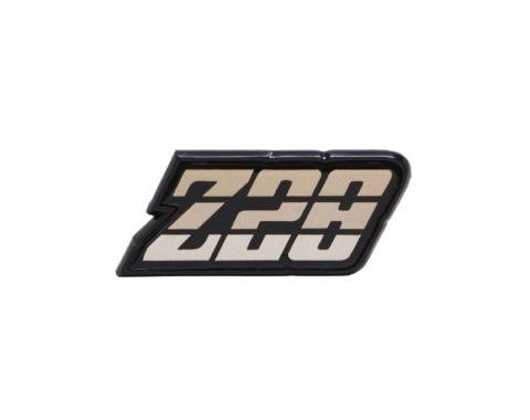 Trim Parts 80-81 Camaro Fuel Door Emblem, Z-28, Gold, Each 6954