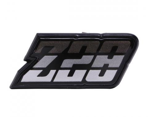 Trim Parts 80-81 Camaro Fuel Door Emblem, Z-28, Charcoal, Each 6951