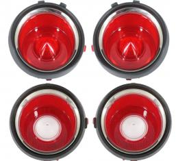 Trim Parts 71 Late-73 Camaro Tail Light Lens Set without RS A6712S
