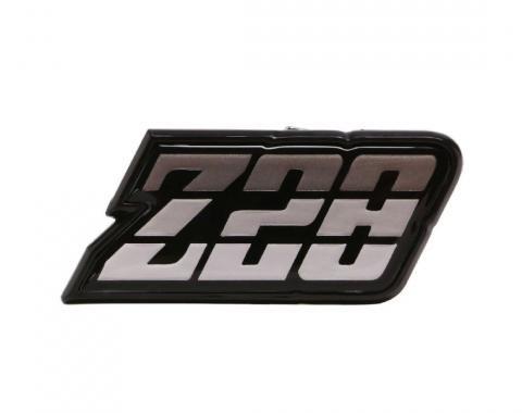 Trim Parts 80-81 Camaro Fuel Door Emblem, Z-28, Silver, Each 6950