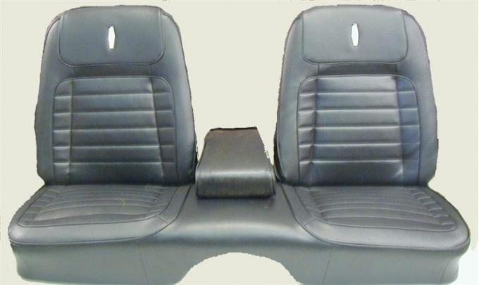PUI 1968 Chevrolet Camaro Deluxe Front Seat Covers, with Armrest 68DSB