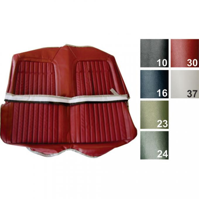 PUI Deluxe Rear Seat Cover 1969 Camaro Coupe 69DS10CS | Black