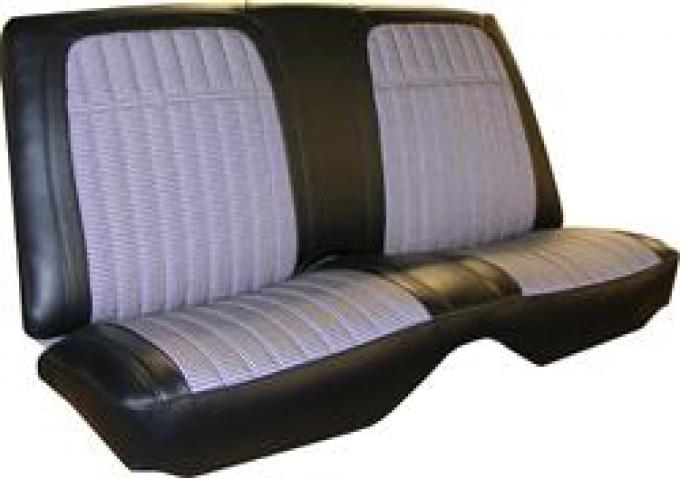 PUI Deluxe Rear Seat Cover 1969 Camaro Coupe 69HT37C | White
