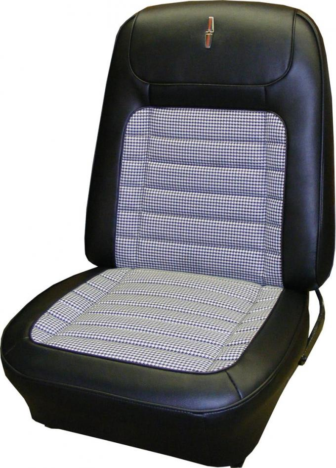 Camaro PUI Deluxe Houndstooth Bucket Seat Covers, Preassembled, 1968