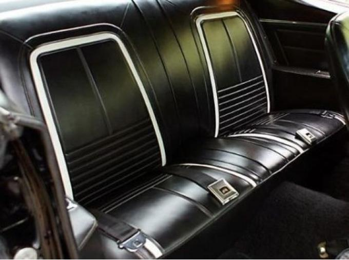 PUI 1967 Chevrolet Camaro Deluxe Rear Seat Covers, Coupe/Convertible 67DSC