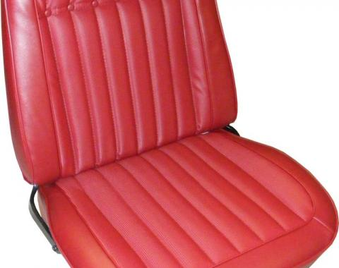 PUI 1969 Chevrolet Camaro Deluxe Bucket Front & Rear Seat Covers, Hardtop 69DSUSC