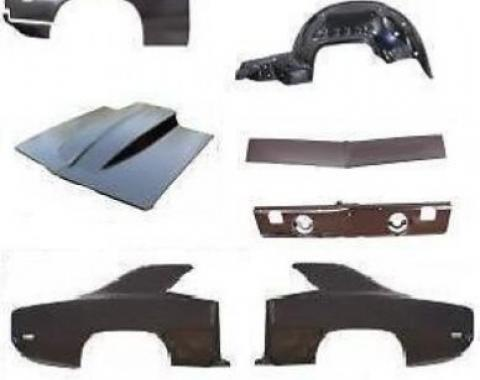 "AMD Body Sheet Metal Kit, 69 Camaro Coupe (2"" Cowl Hood, Fender, Quarter & Valance)"