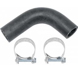 Camaro Water Pump Bypass Hose, Big Block, Molded, With Hose Clamps, 1967-1968