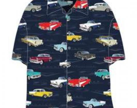 Chevy Camp Shirt, Tri-Five, 1955-1957, 2X-Large
