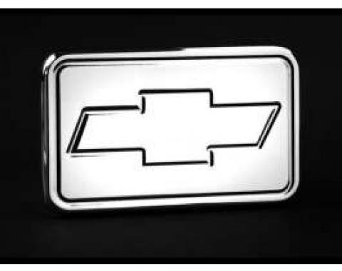 Polished Aluminum Billet Bowtie Logo 2 Hitch Receiver Cover