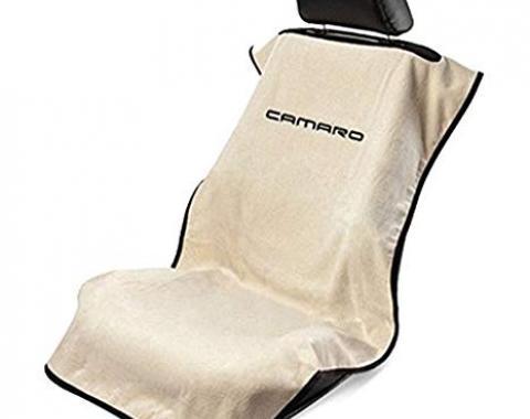 Seat Armour New Camaro, Seat Towel, Tan with Logo SA100NCAMT