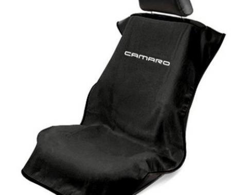 Seat Armour New Camaro, Seat Towel, Black with Logo SA100NCAMB
