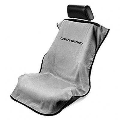 Seat Armour New Camaro, Seat Towel, Grey with Logo SA100NCAMG