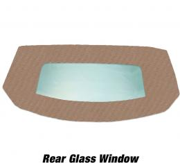 Kee Auto Top HG0199TN03SF Convertible Rear Window - Cloth, Direct Fit