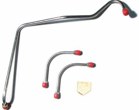 Right Stuff 67 - 68 302; 3 Lines w/ Y Block - Fuel Pump to Carb. Line; 4 pcs. FPC67ZZ