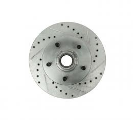 Right Stuff Front Rotor; Drilled Slotted; Zin Washed; Pr. BR02ZDC