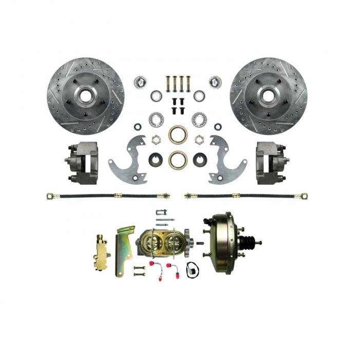 Right Stuff EZ Fit Power Front Disc Brake Conversion Kit with Drilled and Slotted rotors for 64-72 A-Body, 67-69 F-Body and 68-74 Nova. AFXDC14A
