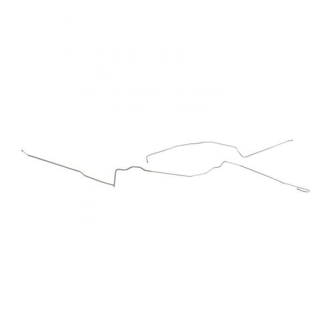 Right Stuff 80 - 81 Excl. Z-28; 1/4 - Front to Rear Fuel Return Line - Stainless; 2 Pcs. FGL8002S