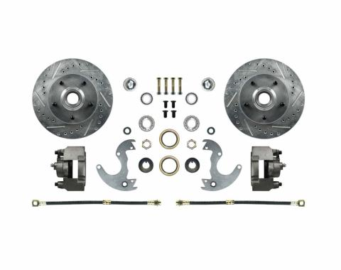 Right Stuff EZ Fit Front Disc Brake Wheel Kit with Drilled and Slotted rotors for 64-72 A-Body, 67-69 F-Body and 64-74 Chevy II/Nova. AFXWK14A