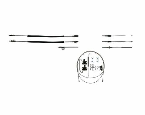 Right Stuff 70 - 74 Camaro - Brake Cable Set w/ Hardware; Stainless RSBCF03S