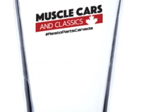 Muscle Cars & Classics 16 oz. Libbey Pint Glass with Red Base