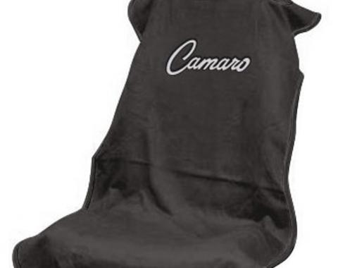 Seat Armour 1967-1981 Camaro Seat Towel, Black with Camaro Script SA100CAMB