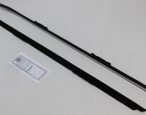 Camaro Outer Windowfelt Weatherstrip, for Cars without Chrome Moldings, 1970-1981