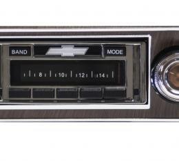 Custom Autosound 1967-1968 Chevrolet Camaro USA-630 Radio, with Walnut Bezel