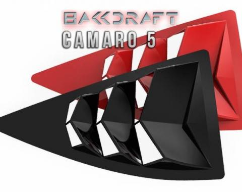 GlassSkinz 2010-15 Camaro Bakkdraft Rear Quarter Window Louvers CAM5BAKKDRAFT-QTR