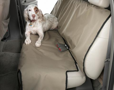 Covercraft Canine Covers Semi-Custom Rear Seat Protector, Polycotton Taupe DE2021TP