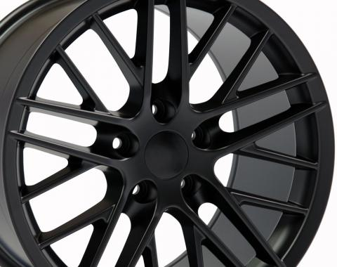 "18"" Fits Chevrolet - C6 ZR1 Wheel - Satin Black 18x10.5"