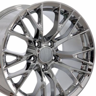 "17"" fits Chevrolet Corvette C7 Z06 Wheel Replica - Chrome 17x9.5"