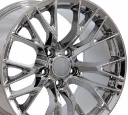 C7 Z06 Style Chrome Replica Wheel fits Chevrolet Corvette 18x8.5
