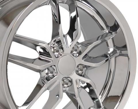 Chrome Deep Dish Wheel fits Camaro-Firebird (Stingray style) 18x10.5