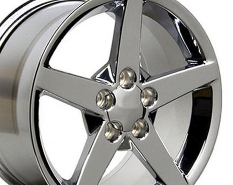 """18"""" Fits Chevrolet - Corvette C6 Wheel - Chrome 18x9.5"""