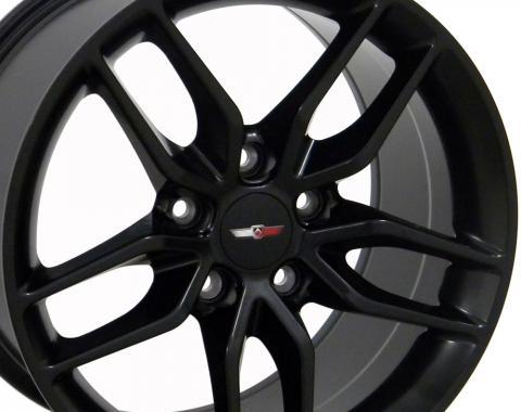 Satin Black Wheel fits Corvette (Stingray style) 18x10.5