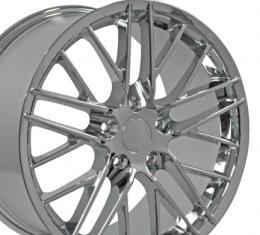 """18"""" Fits Chevrolet - Corvette C6 ZR1 Wheel - Chrome 18x8.5"""
