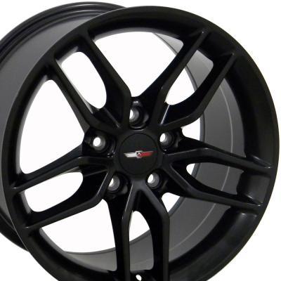 Matte Black Wheel fits Corvette C4-C5 (Stingray style) 17x9.5