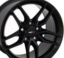 Matte Black Wheel fits Corvette (Stingray style) 18x10.5