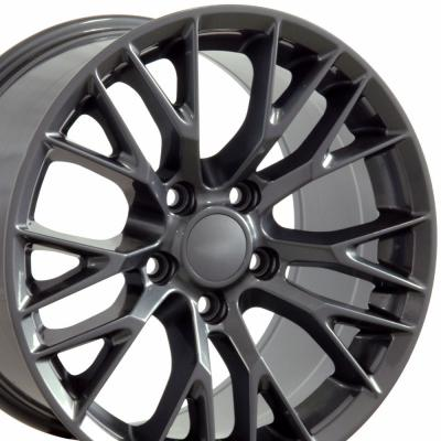 "18"" Fits Chevrolet - C7 Z06 Wheel - Gunmetal 18x8.5"