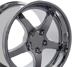 "18"" Fits Chevrolet - Corvette C5 Wheel - Chrome 18x10.5"