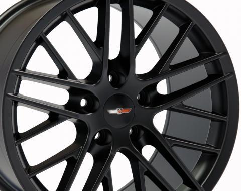 "18"" Fits Chevrolet - C6 ZR1 Wheel Replica - Satin Black 18x8.5"