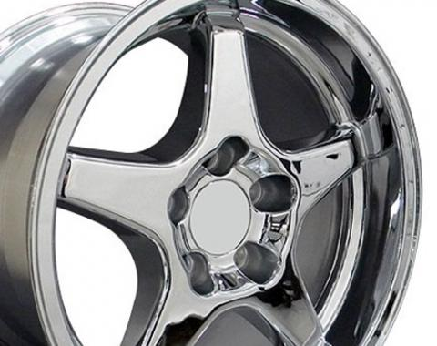 "17"" Fits Chevrolet - Corvette ZR1 Wheel - Chrome 17x11"