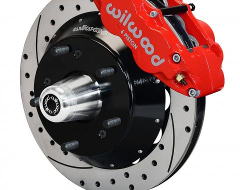 Wilwood Brakes Forged Narrow Superlite 6R Big Brake Front Brake Kit (Hub) 140-15278-DR