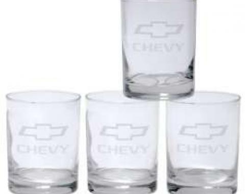 Tumbler Glassware Set, With Bowtie Logos