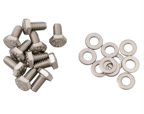 Camaro Timing Chain Cover Bolt Set, Stainless Steel, 1967-1969