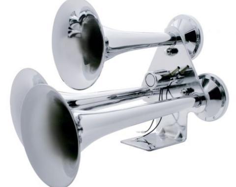 United Pacific Chrome 3 Trumpet Train Horn 46129